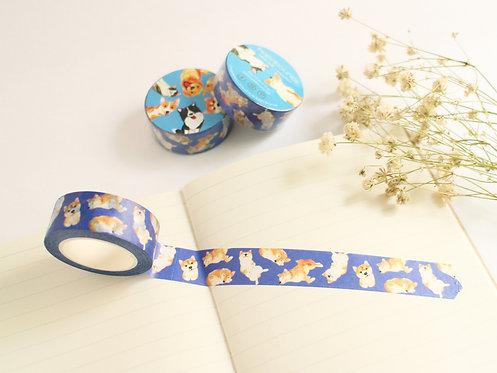 Kelly Shiba Inu Washi Tape/ Masking Tape in Blue