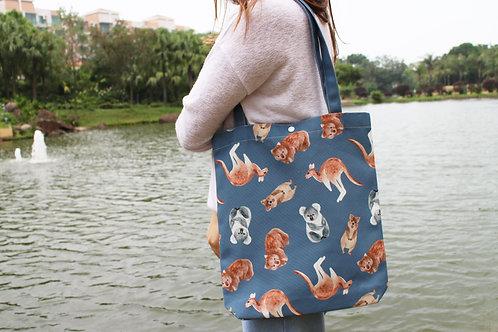 Aussie Animal Tote Bag (Kangaroo Koala Wombat Quokka)