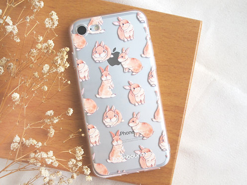 Toffee Rabbit Transparent Phone Case