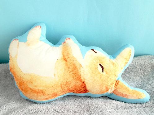 Toffee Rabbit Plush Pillow