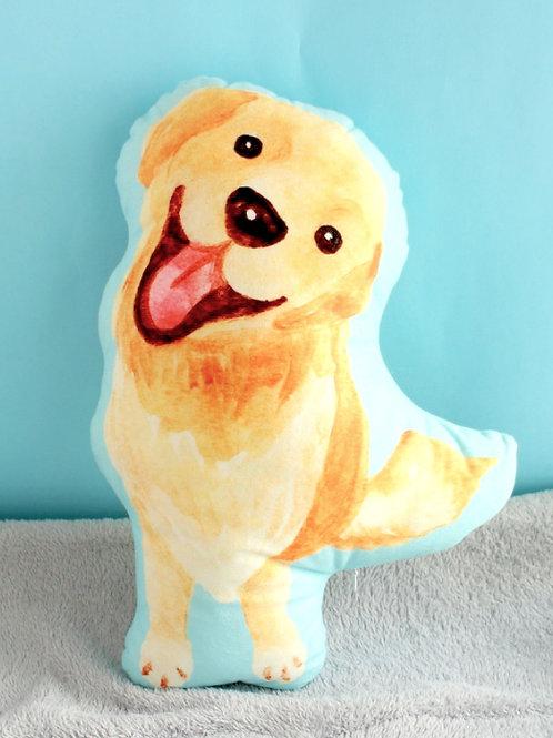 Kiki Golden Retriever Plush Pillow