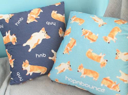 Bau Bau Corgi Cushion Cover Throw Pillow