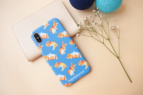 Toffee Rabbit Phone Case in Blue