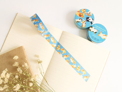 Toffee Rabbit Washi Tape/ Masking Tape in Blue