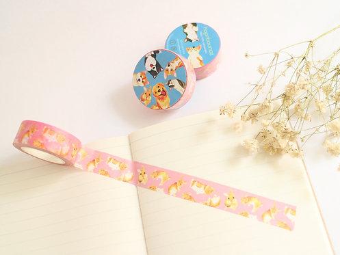 Toffee Rabbit Washi Tape/ Masking Tape in Pink