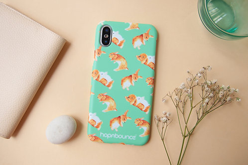 Toffee Rabbit Phone Case in Green