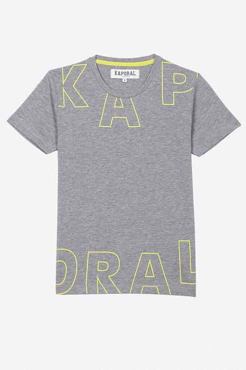 Kaporal T-shirt régular gris Garçon en 100% coton
