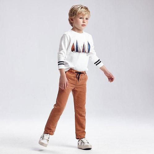 MAYORAL Pantalon long lin sergé garçon