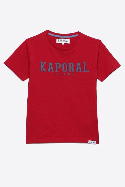KAPORAL T-shirt régular rouge Garçon imprimé en relief