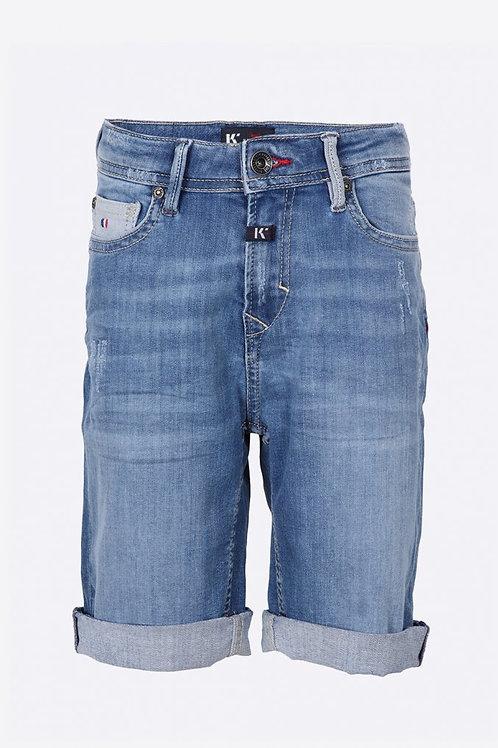 KAPORAL Short en jean régular Garçon bleu délavé et déchiré