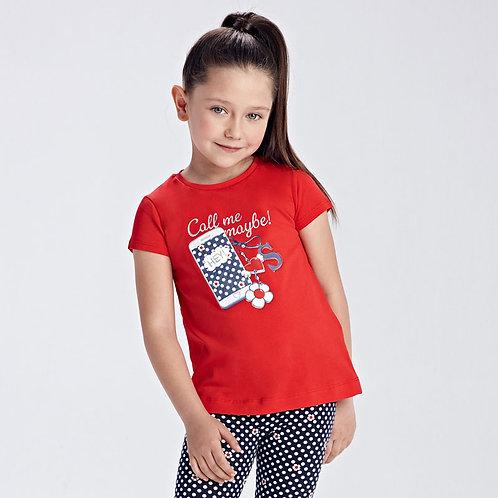 MAYORAL T-shirt Ecofriends sérigraphié fille