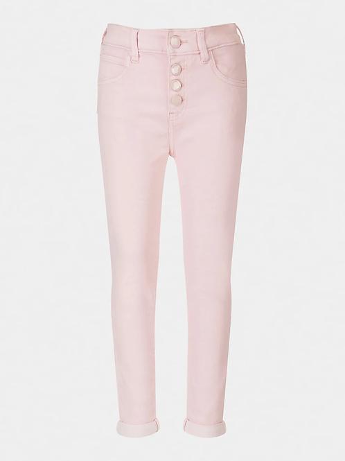 Guess Pantalon taille haute rose pâle
