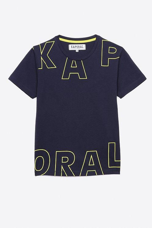 Kaporal T-shirt régular bleu Garçon en 100% coton