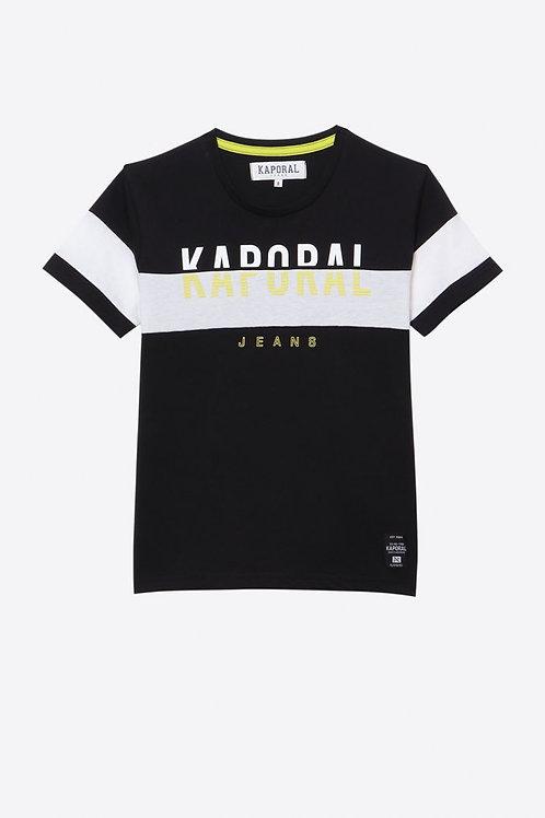 KAPORAL T-shirt Garçon régular noir en 100% coton