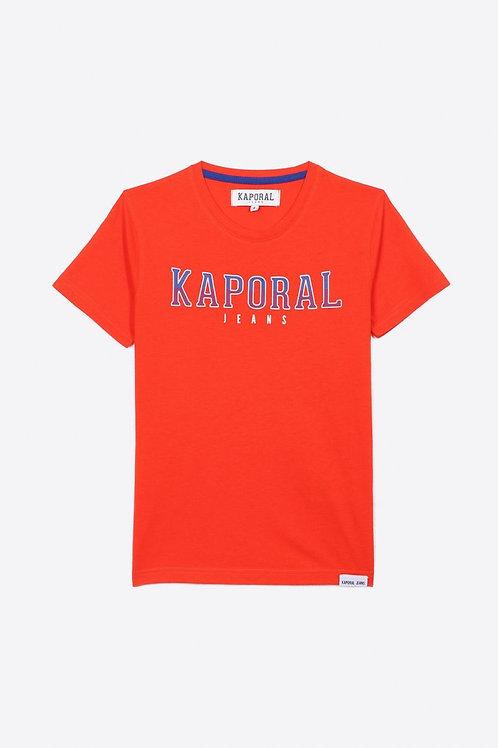 Kaporal T-shirt régular rouge Garçon avec imprimé en relief en 100% coton