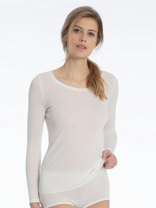 CalidaT-shirt à manches longueslaine et soie