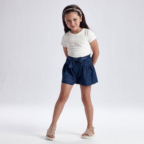 MAYORAL Pantalon court jean Ecofriends fille