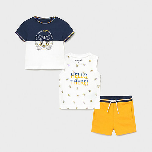 MAYORAL Ensemble tricot 3 pièces tigre bébé garçon