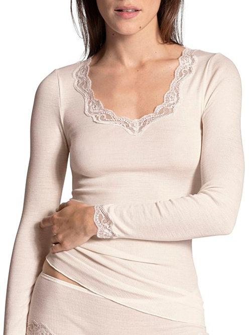 Calida T-shirt à manches longues laine et soie