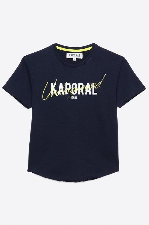 Kaporal T-shirt régular blanc Garçon imprimé en 100% coton