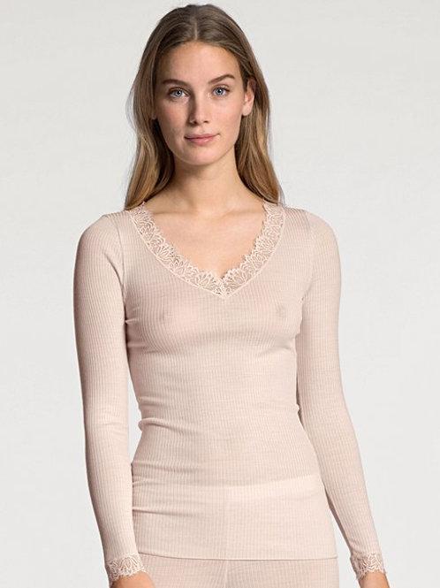 Calida T-shirt à mancheslongues en laine et soie