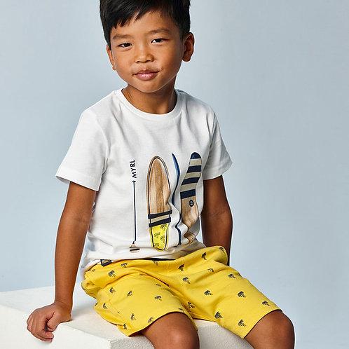 MAYORAL Ensemble de tricot bermuda imprimé garçon
