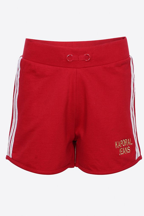 KAPORAL Short régular rouge Fille en 100% coton