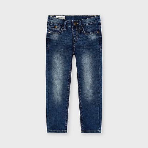 MAYORAL Pantalon long soft denim ECOFRIENDS slim fit garçon