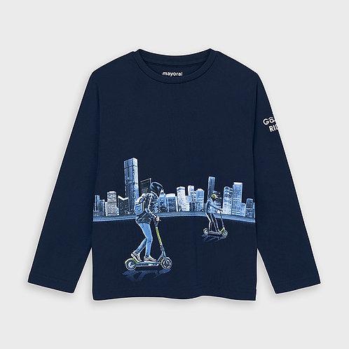 Mayoral T-shirt manche longue réfléchissant