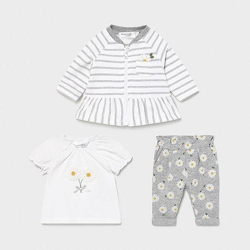 MAYORAL Survêtement avec t-shirt nouveau-né fille