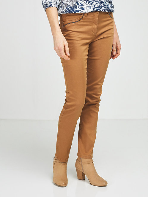 Pantalon 5 poches en tissu stretch DIANE LAURY
