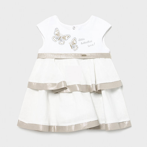 MAYORAL Robe combinée lin bébé fille