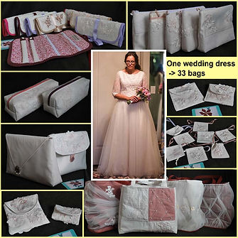 From wedding dress to bags