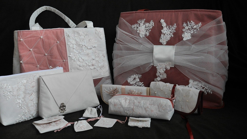 Bespoke keepsake bags made from wedding dress fabrics