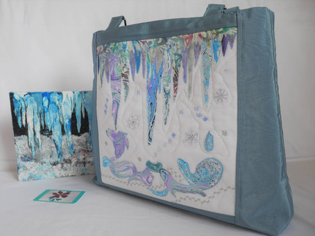 From acrylic painting to ecofriendly bag.