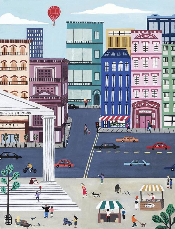 Escaping Column- Coloured Illustration.j