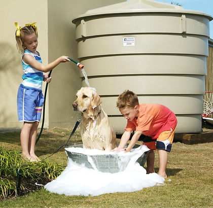 save water with a plastic water tank