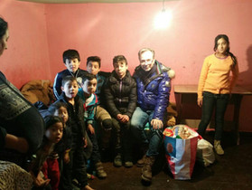 Helping needy Families in Romania