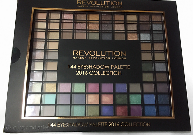 ... the Makeup Revolution 144 Eyeshadow Palette 2016 Collection, 144 eyeshadows for Rs 3500, and at that time I got it on sale too, total steal!