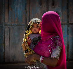 Mother and child, Rajasthan