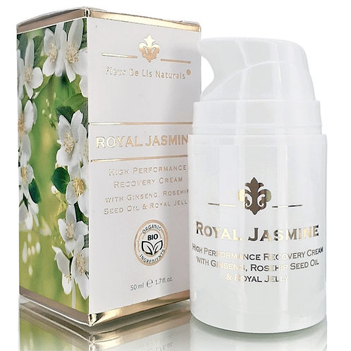 Royal Jasmine Cream with Ginseng, Rosehip  Seed Oil & Royal Jelly