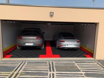 Garage aux couleurs Porsche