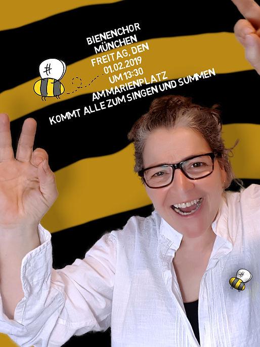 Bienenchor Marienplatz Flashmob Chor Chöre Artenvielfalt Bienen