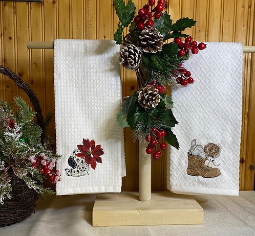 Christmas Puppy Towels