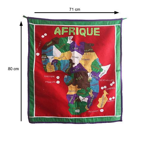 Patchwork carte Afrique 80 x 70 cm