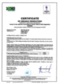 Wild Mushrooms Organic Certificate