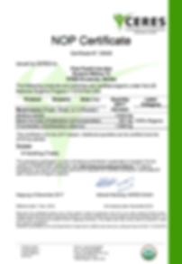 Wild Mushrooms NOP Certificate