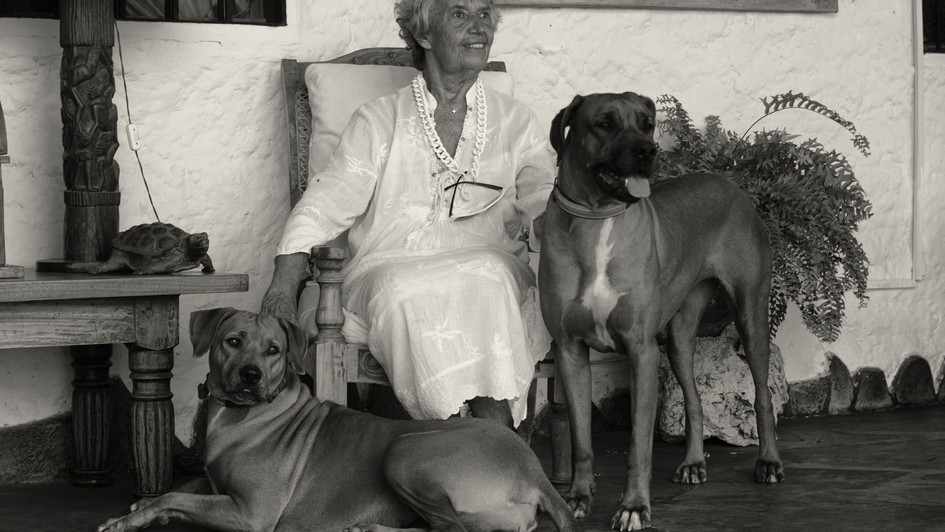 Carla and her dogs
