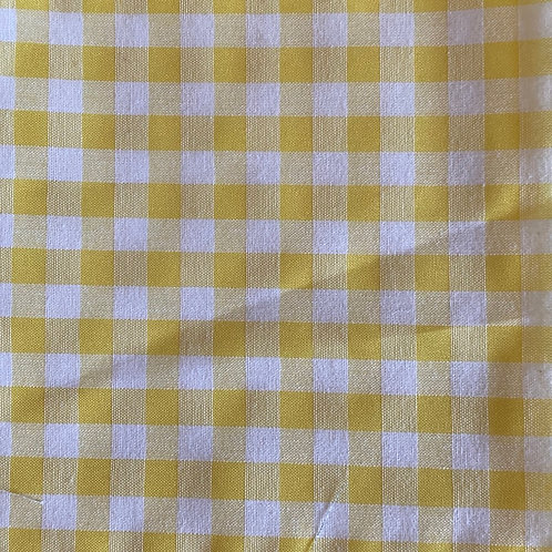 Adult Face Mask - Yellow Gingham