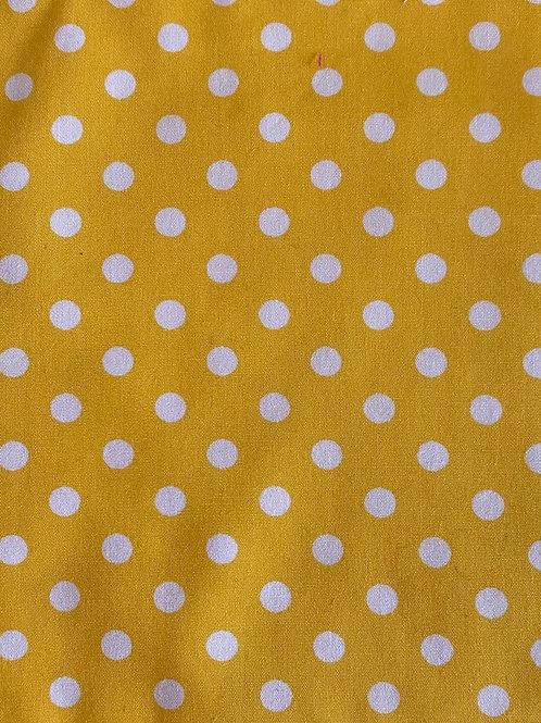 Adult Face Mask - Yellow Polka Dot